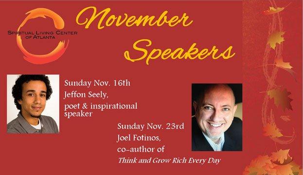 November Speakers